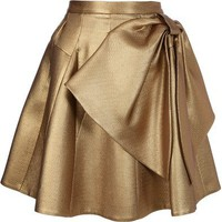 DICE KAYEK PLEATED BOW PANEL SKIRT
