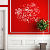 Happy Holidays - Vinyl Wall Decal Sticker Art