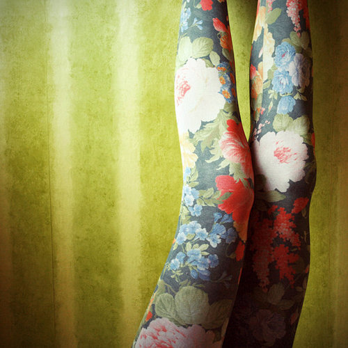 fashion, flowers, legs, separate with comma, vintage - inspiring picture on Favim.com on we heart it / visual bookmark #17478547