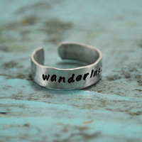 Wanderlust. A born traveler&#x27;s ring