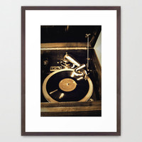 vintage music Framed Art Print by Marianna Tankelevich | Society6