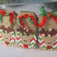Reindeer christmas Tag embellishments ON SALE