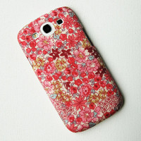 Recycled Fabric Pink Floral Samsung Galaxy s3 Case