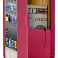 Pink Case for iPhone 4/4S with built-in storage space for credit cards/ID/money, by EYN (Everything
