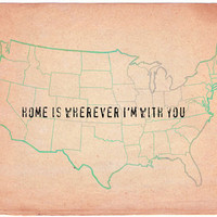 Home is wherever I&#x27;m with you Art Print by Mursblanc | Society6