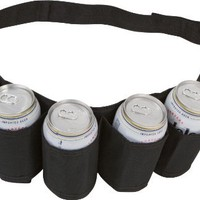 EZ Drinker Beer and Soda Can Holster Belt, Pack of 6 (Black)
