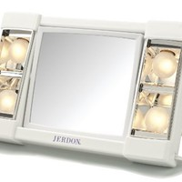 My Beauty Queen - Jerdon J1010 Table Top Makeup Mirror, 3X Magnification, White