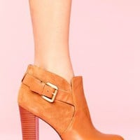 Lulu Buckled Bootie in  What's New at Nasty Gal