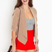 Sharp Edges Blazer - Camel in  What's New at Nasty Gal
