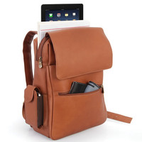 The iPad Leather Backpack - Hammacher Schlemmer