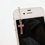 Simple Gold/Silver Cross iPhone Earphone Plug Dust Plug - Cellphone Handmade Accessories