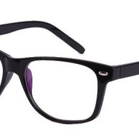 Abbot Eyeglasses with Black Plastic Aviator Full Frame/Rim Frame