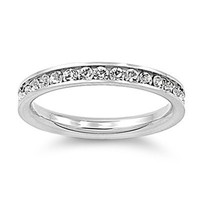 Stainless Steel Eternity Cz Wedding Band Ring 3mm Sz 3-10; Comes With FREE Gift Box (7)