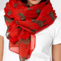 Red Zebra Crossing Scarf | Shop Accessories Now | fredflare.com