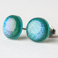 Mermaid Sparkle Post Earrings