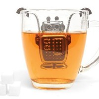 Kikkerland Robot Tea Infuser and Drip Tray: Amazon.com: Kitchen & Dining