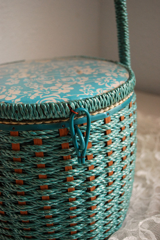 Wicker Sewing Basket by mandylopandy on Etsy
