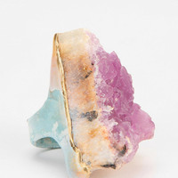 Adina Mills Pink Fluorite Ring