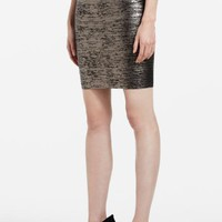 BCBGMAXAZRIA - WHAT'S NEW: NEW ARRIVALS: FOIL-PRINT POWER SKIRT