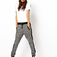 ASOS Track Pant with PU Pocket at asos.com