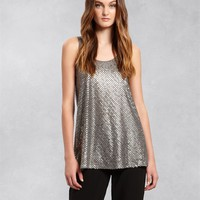 Sleeveless Blouse with Allover Sequins - DKNY