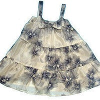 Twelfth Street Baby by Cynthia Vincent - Ivory/Black Silk 3-Tier Bow Dress - Twelfth Street Baby by Cynthia Vincent