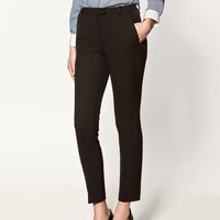 ANKLE-CROPPED TROUSERS - Collection - Trousers - Collection - Woman - ZARA United States