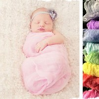 Beautiful Gauze Wraps for Newborn Photos - 9 Colors to Choose From!