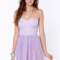 Barre-owed Time Lavender Sequin Dress