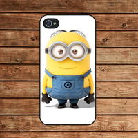 Despicable Me Minion Mustache--iphone 4 case,iphone 4s case,iphone 4 cover,in plastic or silicone case