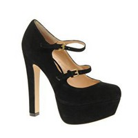 ASOS | ASOS PACE Suede Double Strap Platform High Shoe at ASOS