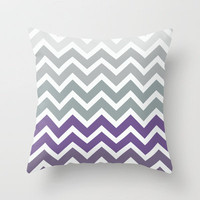 Purple Fade Chevron Zigzag Pattern Throw Pillow by Rex Lambo | Society6