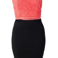 Lace Upper Bandeau Dress