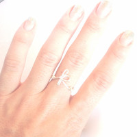 initial ring - letter ring - wire wrapped initial ring