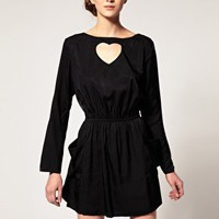 Dansk | Dansk Heart Cut Out Pocket Dress at ASOS