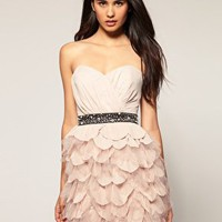 Lipsy | Lipsy VmIP Ruffle Bustier Dress at ASOS