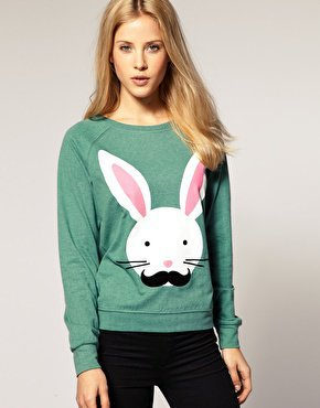 River Island | River Island Moustache Rabbit Top at ASOS
