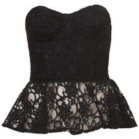 Lace Peplum Corset - New In This Week  - New In