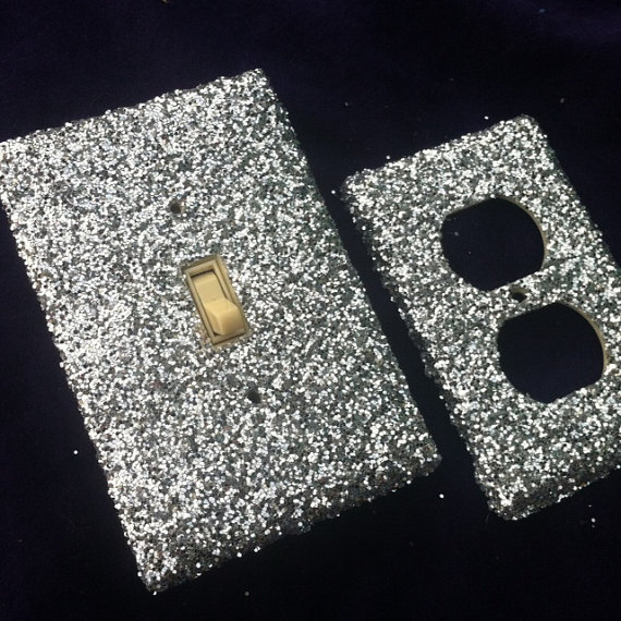 Silver Switchplate / Outlet Cover Set of Two