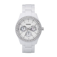 FOSSIL® Watch Styles White Watches:Watch Styles Stella Resin Watch - White ES1967