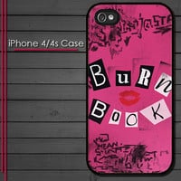 iPhone 4 Case - Mean Girls Burn Book - iPhone 4s Case - iPhone 4 cover  skin -
