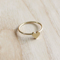 Tiny heart ring ( choose your size ) , everyday jewelry, delicate minimal jewelry