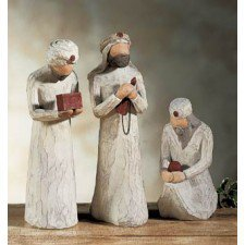 Willow Tree-: 3 Piece Wiseman Nativity Figurines