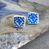 AntiqueTile Replica Earrings from OVAR Portugal by Atrio on Etsy