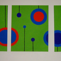 3 Canvas Circle Painting