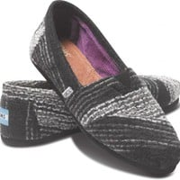 Black Stripe Wool Women&#x27;s Classics | TOMS.com