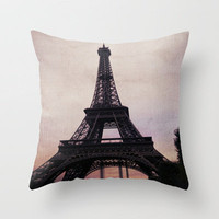 Vintage Paris Throw Pillow by Ann B. | Society6