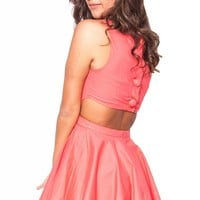 Ladies First dress in coral  | Show Pony Fashion online shopping
