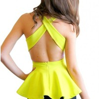 Truth or Dare top in lime  | Show Pony Fashion online shopping