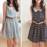 Peter Pan Collar Dresses (no belt)